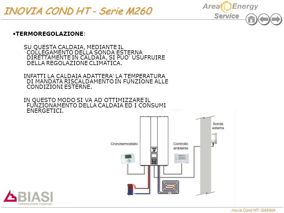 Inovia Cond HT: GAMMA Service INOVIA COND HT - Serie M260 INOVIA COND HT - Serie M260 TERMOREGOLAZIONE:TERMOREGOLAZIONE: SU QUESTA CALDAIA, MEDIANTE I