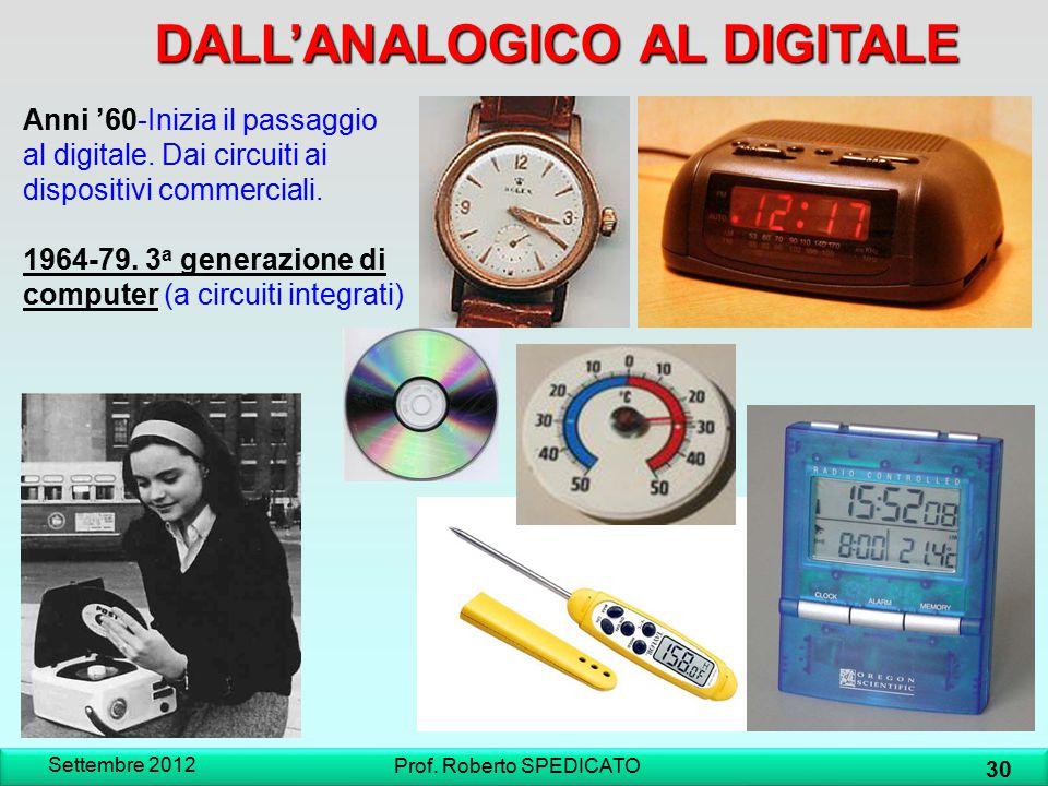 Anni '60-Inizia il passaggio al digitale. Dai circuiti ai dispositivi commerciali. 1964-79. 3 a generazione di computer (a circuiti integrati) DALL'AN