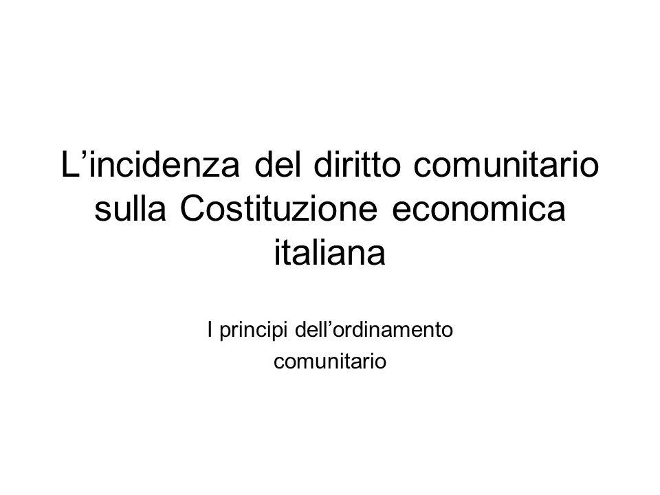 segue Dal mercato comune al mercato interno al mercato unico Alcuni temi centrali: -l'impresa (in specie: il regime dell'impresa pubblica (art.