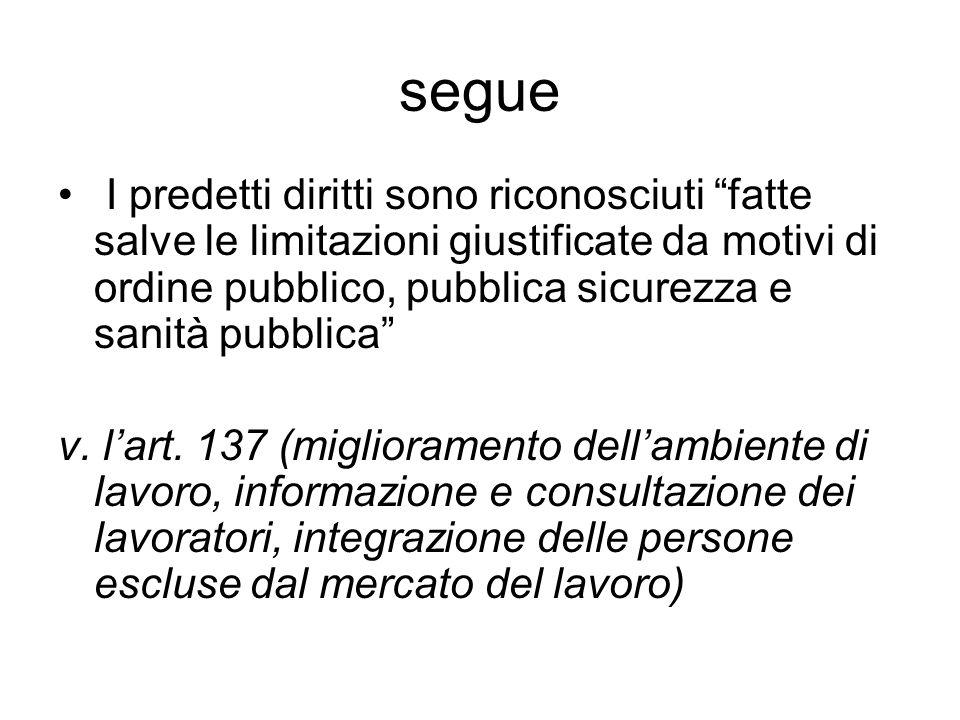 segue art.150 (politica di formazione professionale); Art.