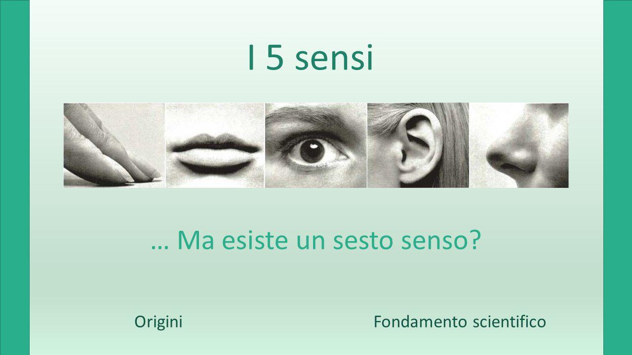 I 5 sensi … Ma esiste un sesto senso OriginiFondamento scientifico