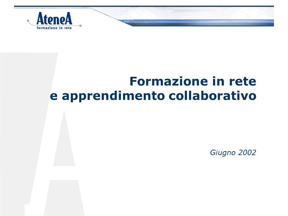 La formazione in rete esprime al massimo le sue potenzialità quando si tratta di associare l'apprendimento alla dimensione del lavoro collaborativo, perché addestra a condividere in rete con gli altri le proprie conoscenze.