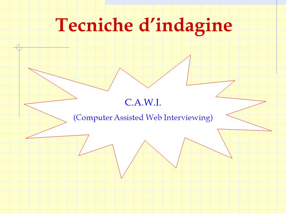 Tecniche d'indagine C.A.W.I. (Computer Assisted Web Interviewing)