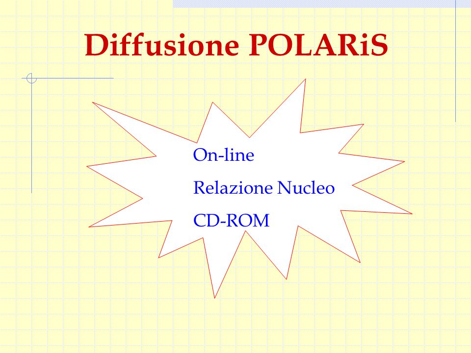 Diffusione POLARiS On-line Relazione Nucleo CD-ROM