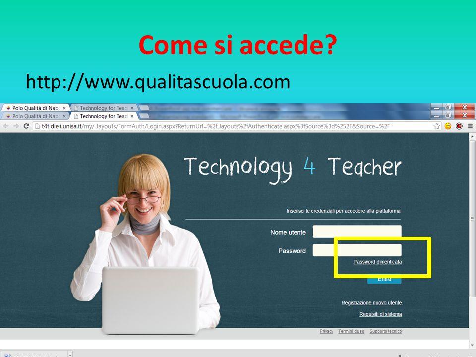 Come si accede http://www.qualitascuola.com