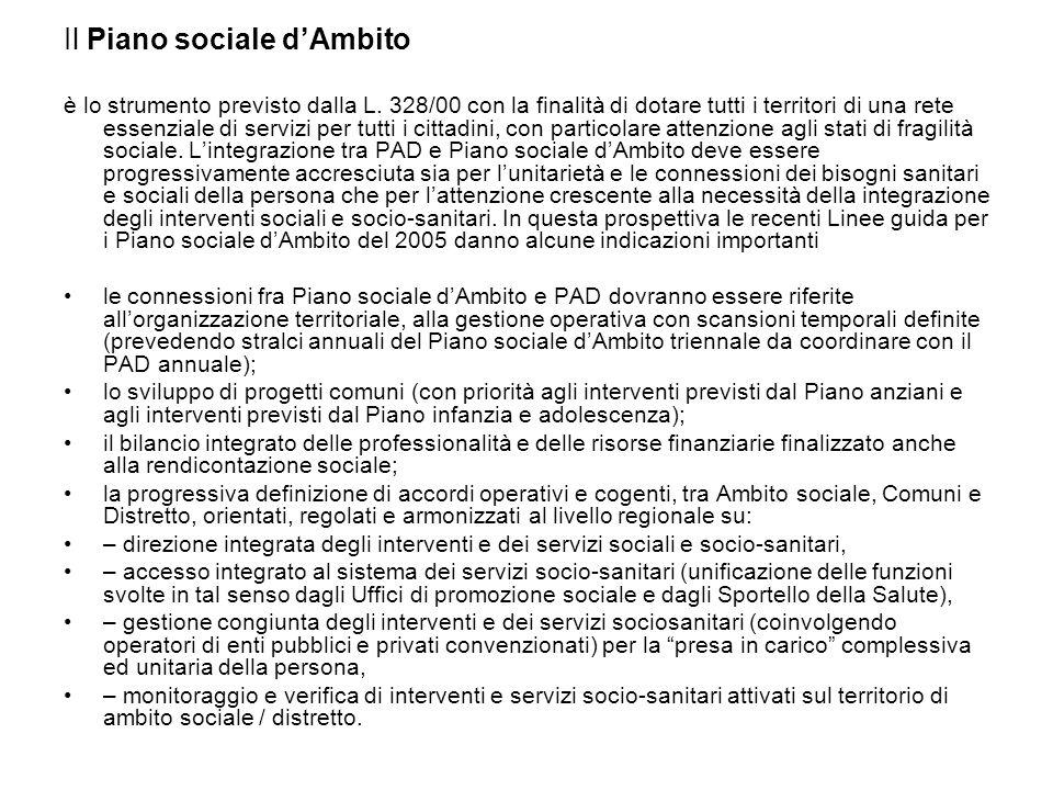 Il Piano sociale d'Ambito è lo strumento previsto dalla L.