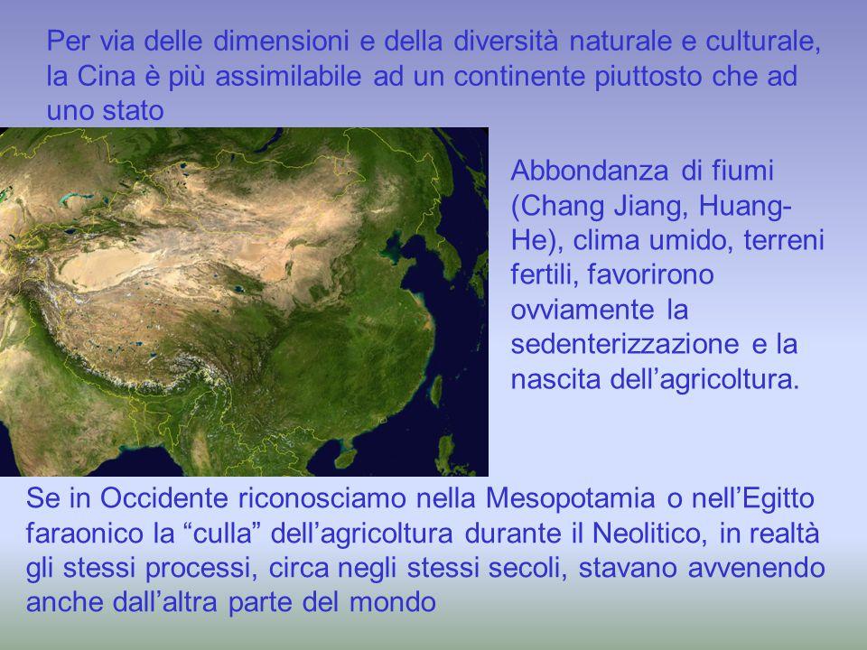 Per via delle dimensioni e della diversità naturale e culturale, la Cina è più assimilabile ad un continente piuttosto che ad uno stato Abbondanza di