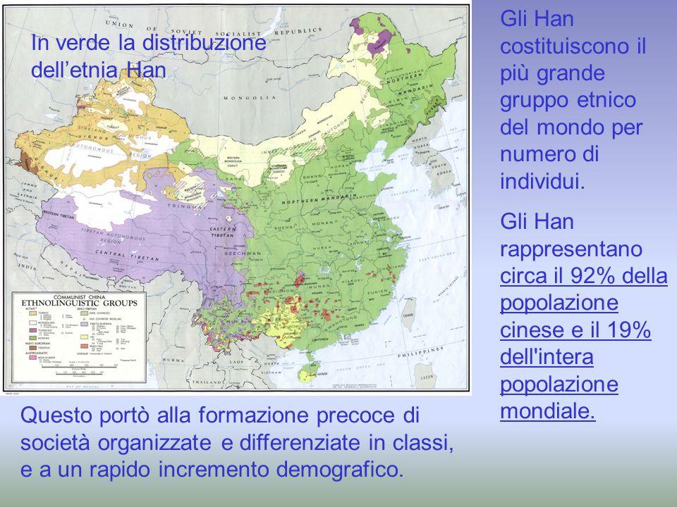 Gli Han costituiscono il più grande gruppo etnico del mondo per numero di individui. Gli Han rappresentano circa il 92% della popolazione cinese e il