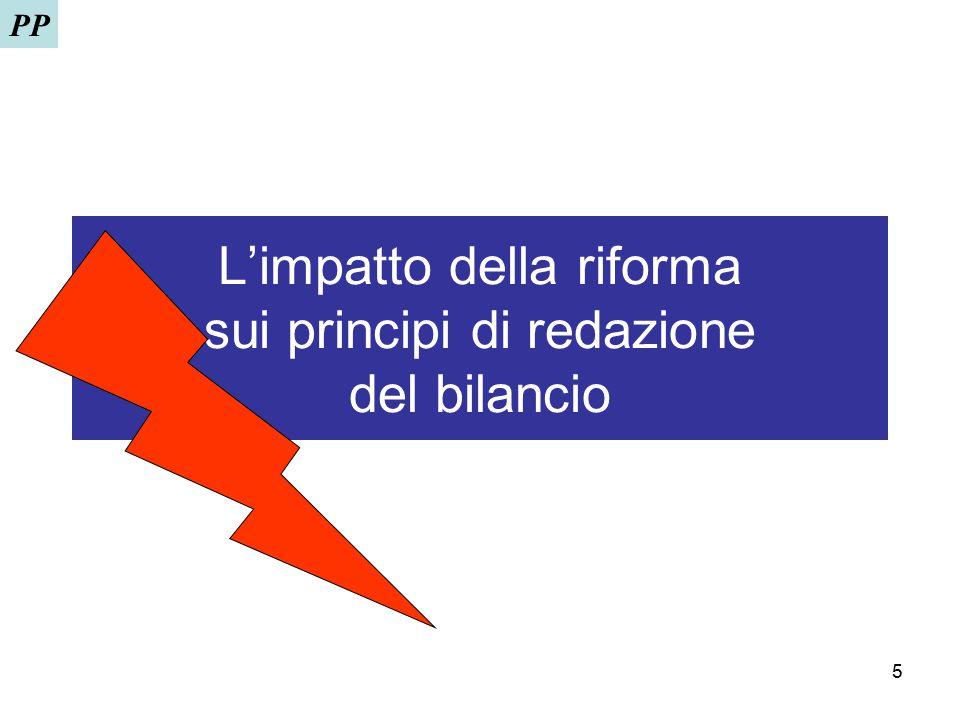 5 L'impatto della riforma sui principi di redazione del bilancio PP