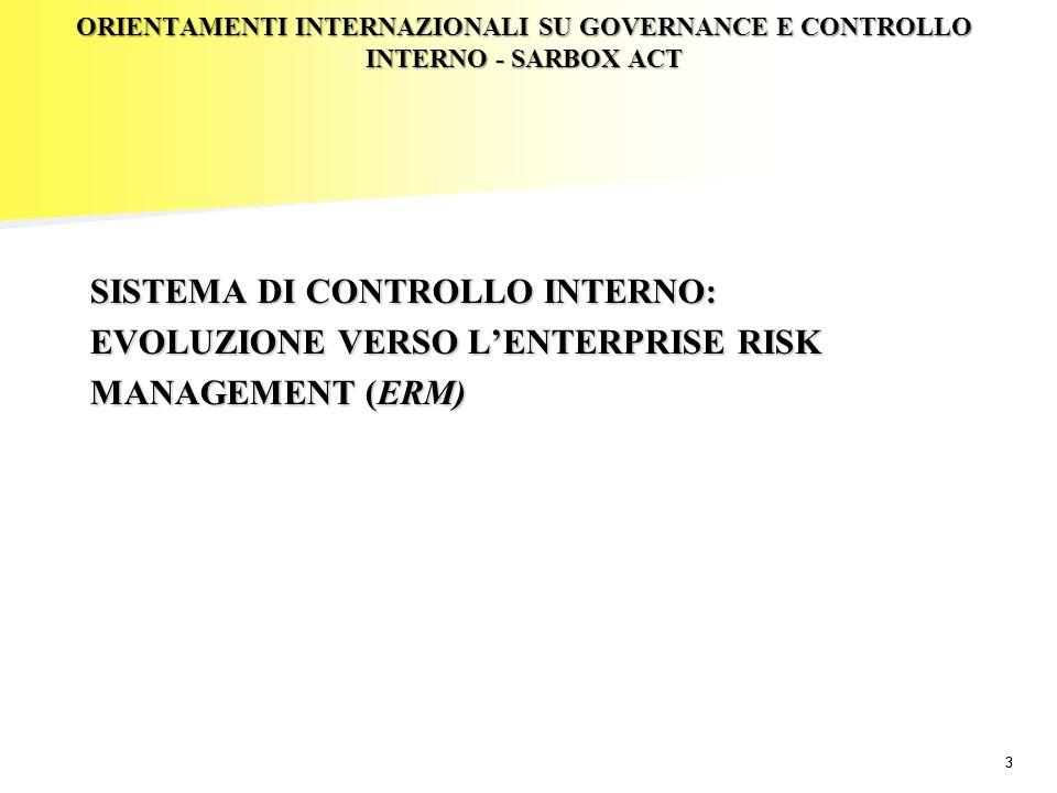 24 Enterprise risk management e gestione strategica dei rischi framework, modelli quantitativi, sistemi di supporto e scelte organizzative – Introduzione