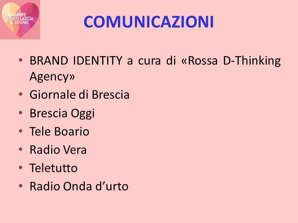COMUNICAZIONI BRAND IDENTITY a cura di «Rossa D-Thinking Agency» Giornale di Brescia Brescia Oggi Tele Boario Radio Vera Teletutto Radio Onda d'urto