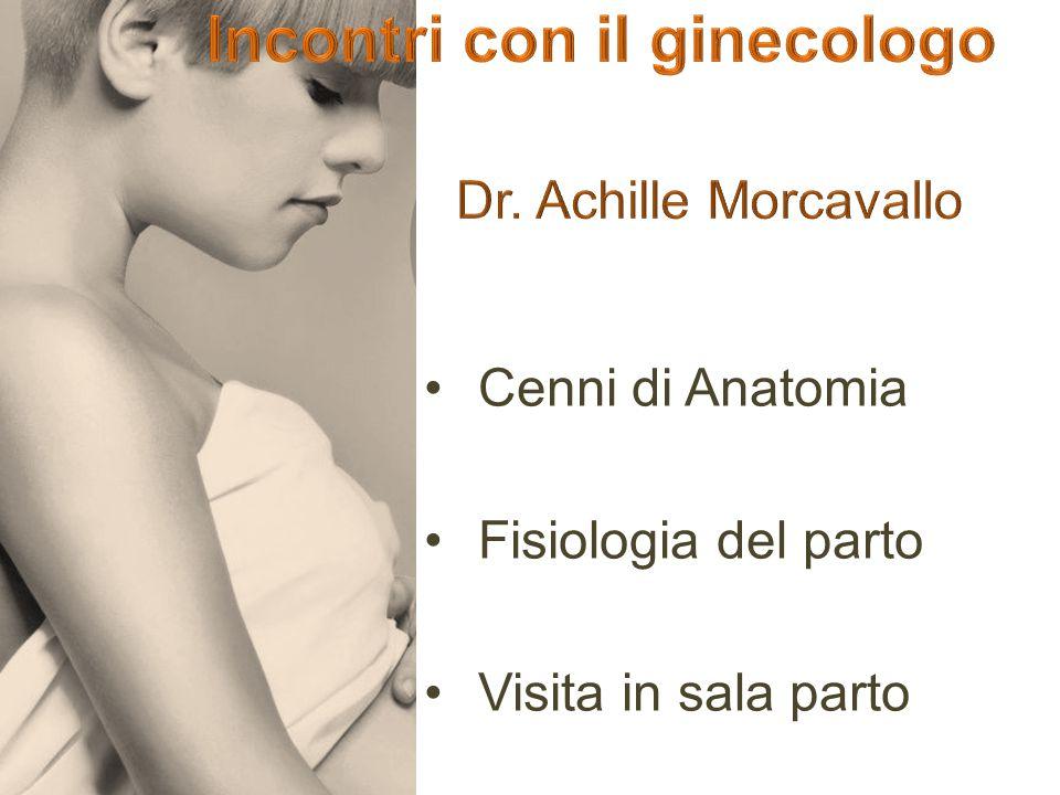 Cenni di Anatomia Fisiologia del parto Visita in sala parto