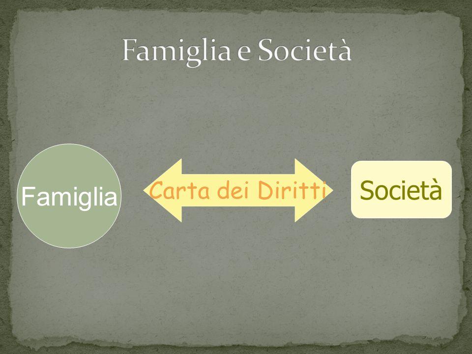 Famiglia Società Carta dei Diritti