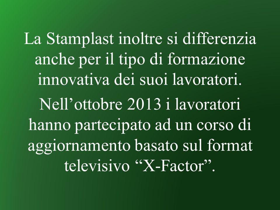 La Stamplast inoltre si differenzia anche per il tipo di formazione innovativa dei suoi lavoratori.