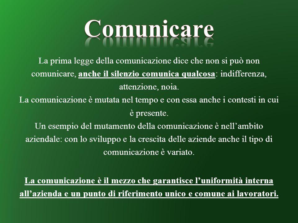 La prima legge della comunicazione dice che non si può non comunicare, anche il silenzio comunica qualcosa: indifferenza, attenzione, noia. La comunic