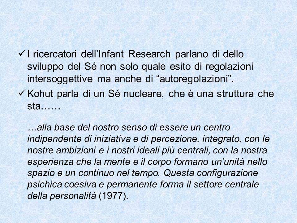 """I ricercatori dell'Infant Research parlano di dello sviluppo del Sé non solo quale esito di regolazioni intersoggettive ma anche di """"autoregolazioni""""."""