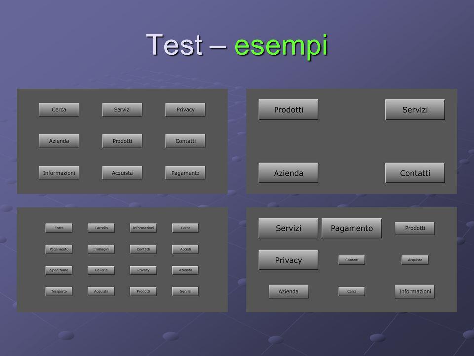 Test – esempi