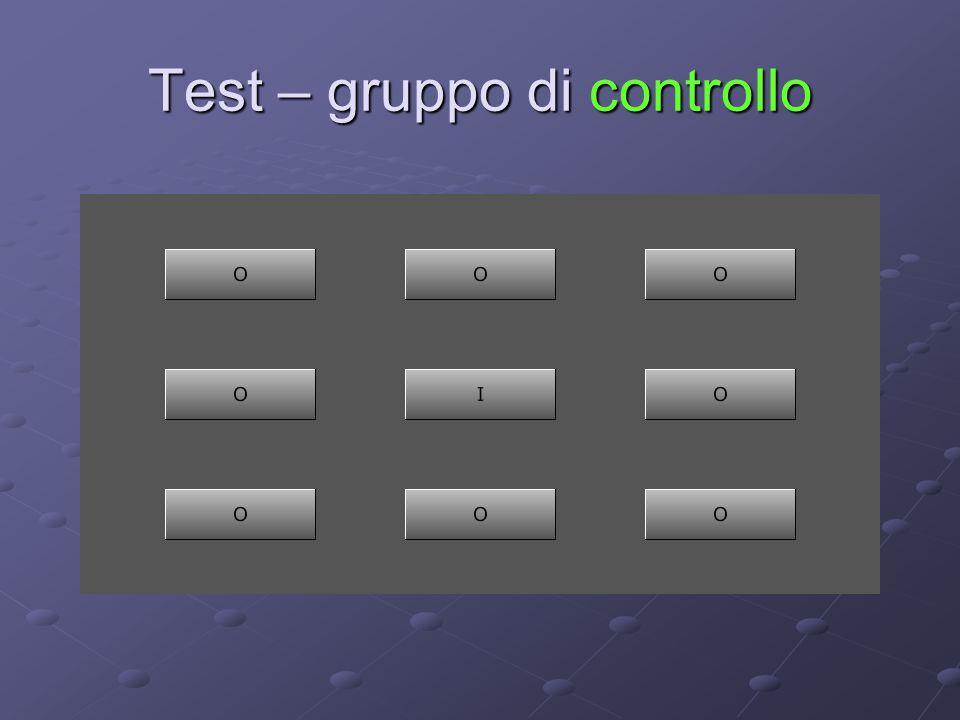Test – gruppo di controllo