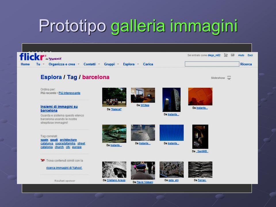 Prototipo galleria immagini