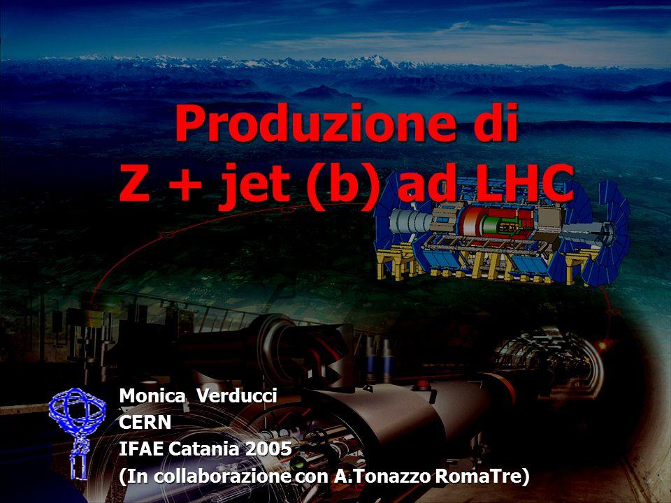 Produzione di Z + jet (b) ad LHC Monica Verducci CERN IFAE Catania 2005 (In collaborazione con A.Tonazzo RomaTre)