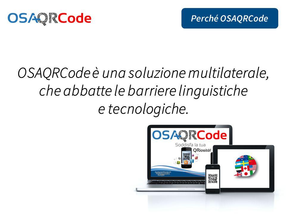 OSAQRCode è una soluzione multilaterale, che abbatte le barriere linguistiche e tecnologiche.