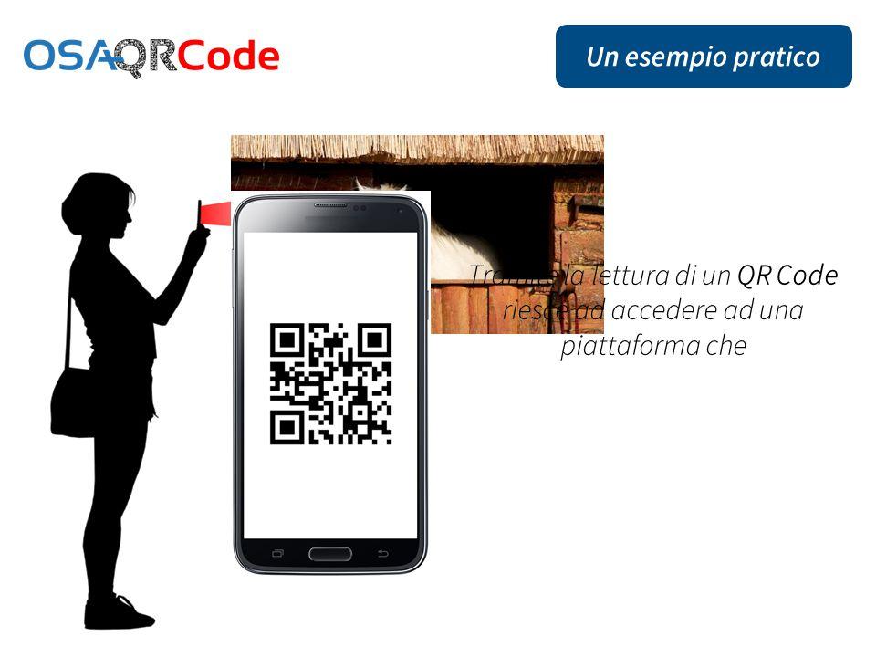Un esempio pratico Tramite la lettura di un QR Code riesce ad accedere ad una piattaforma che