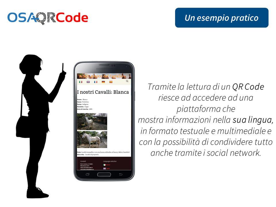 mostra informazioni nella sua lingua, in formato testuale e multimediale e con la possibilità di condividere tutto anche tramite i social network.