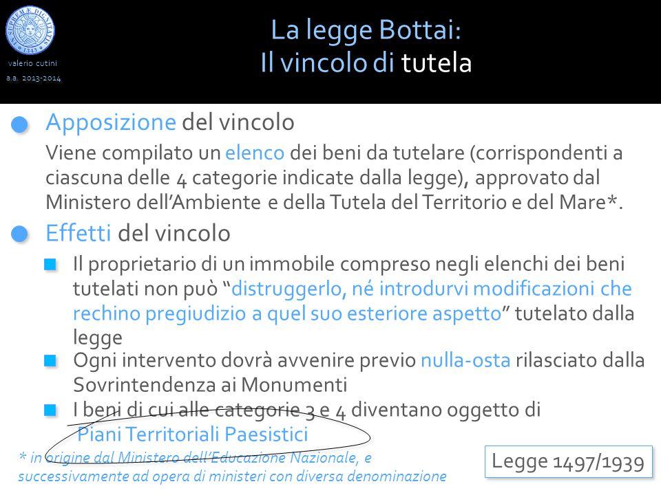 valerio cutini La legge Bottai: Il vincolo di tutela a.a.