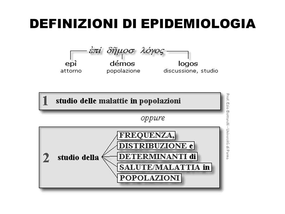 DEFINIZIONI DI EPIDEMIOLOGIA