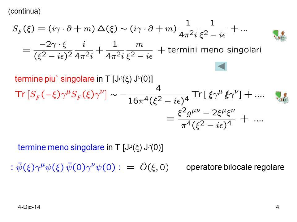 4-Dic-145 termini intermedi operatori bilocali regolari (continua)