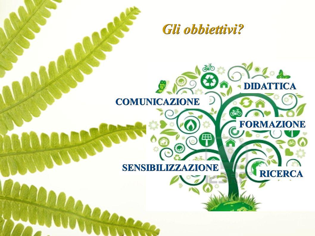 Gli obbiettivi COMUNICAZIONE FORMAZIONE SENSIBILIZZAZIONE RICERCA DIDATTICA