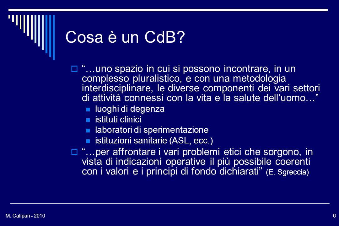 M. Calipari - 20106 Cosa è un CdB.