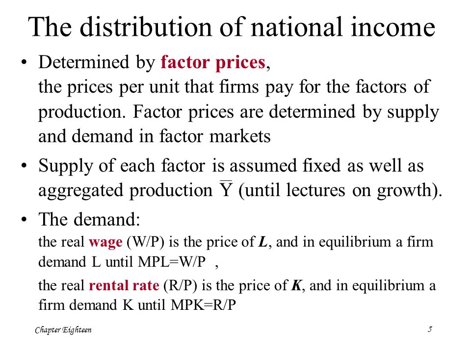 Chapter Eighteen26  Il consumo dipende anche (negativamente) dal tasso di interesse reale.