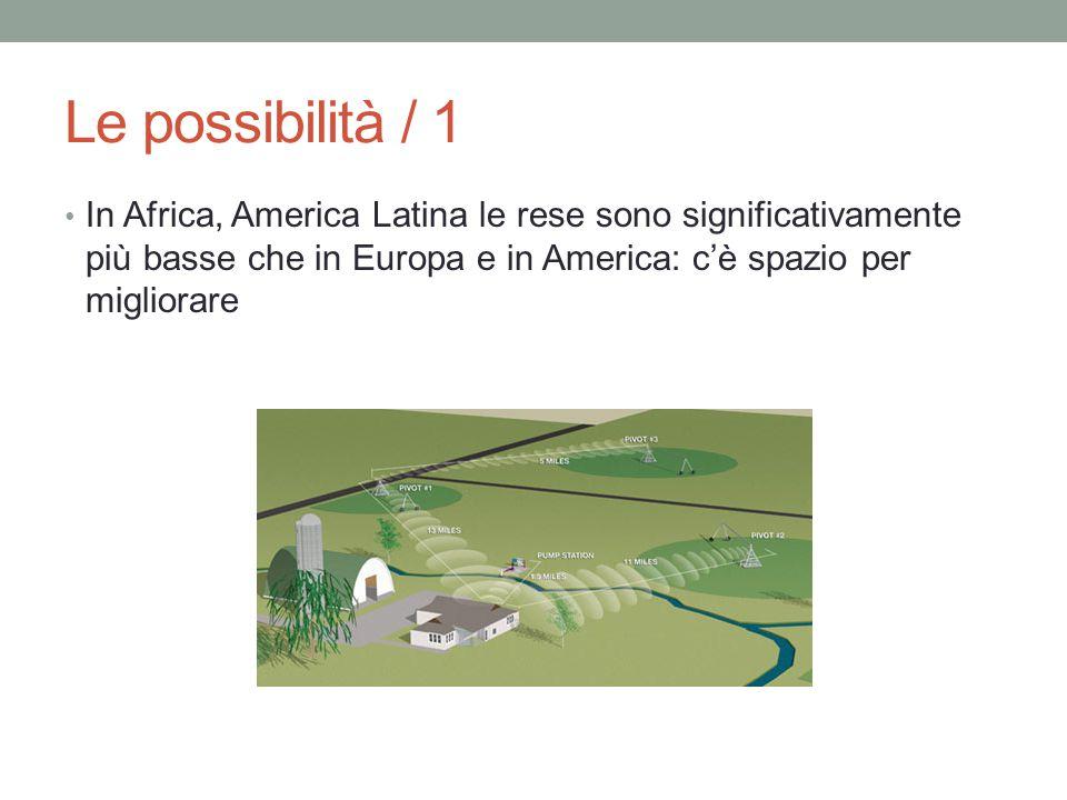 Le possibilità / 1 In Africa, America Latina le rese sono significativamente più basse che in Europa e in America: c'è spazio per migliorare