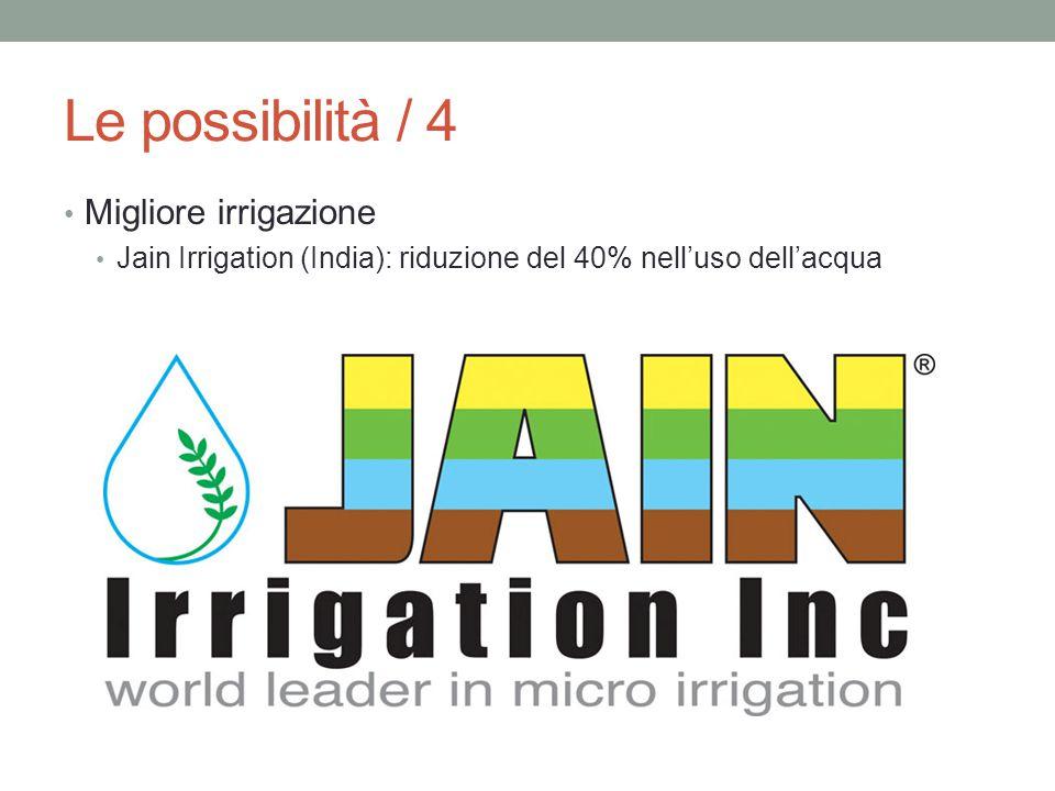 Le possibilità / 4 Migliore irrigazione Jain Irrigation (India): riduzione del 40% nell'uso dell'acqua
