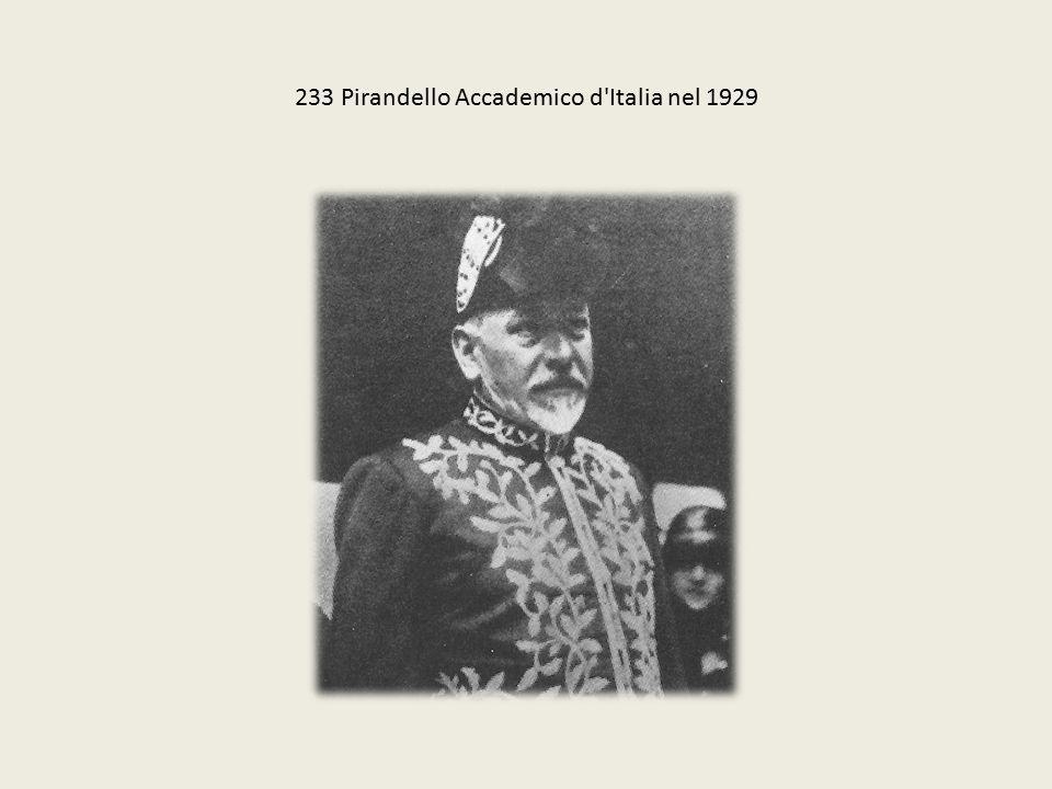 233 Pirandello Accademico d'Italia nel 1929