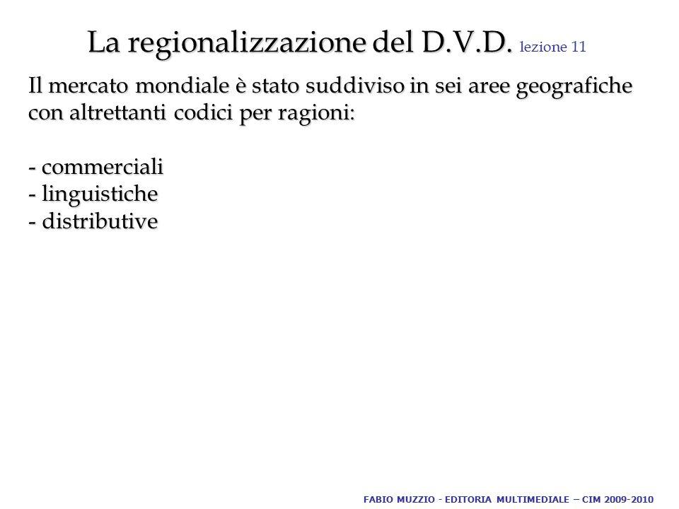 La regionalizzazione del D.V.D. La regionalizzazione del D.V.D.