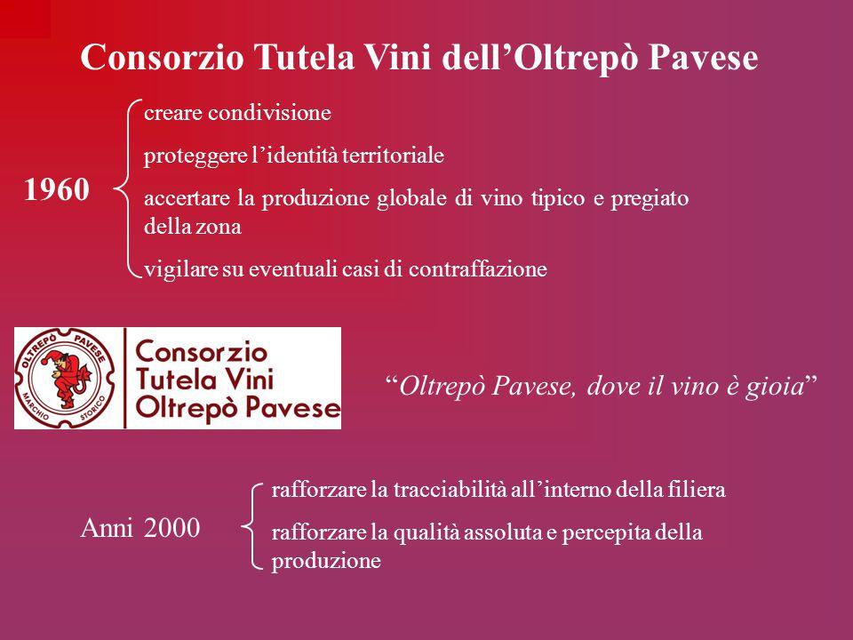 Consorzio Tutela Vini dell'Oltrepò Pavese creare condivisione proteggere l'identità territoriale accertare la produzione globale di vino tipico e preg