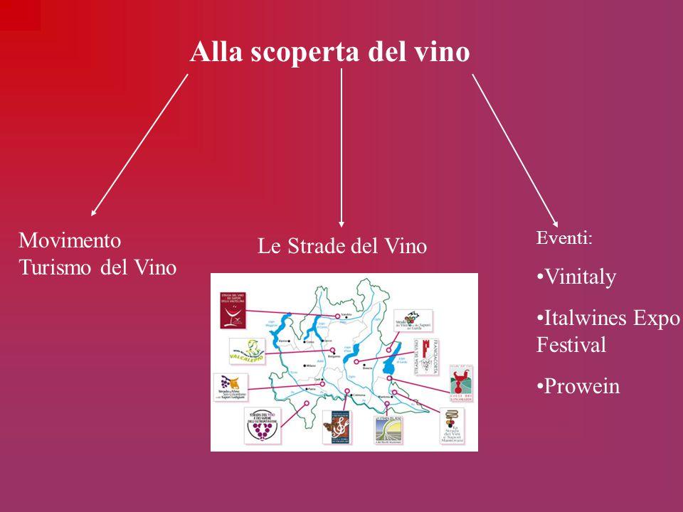 Alla scoperta del vino Movimento Turismo del Vino Le Strade del Vino Eventi: Vinitaly Italwines Expo Festival Prowein