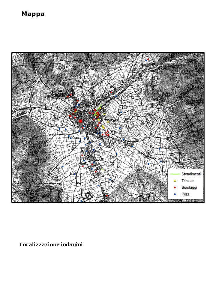 Localizzazione indagini Mappa