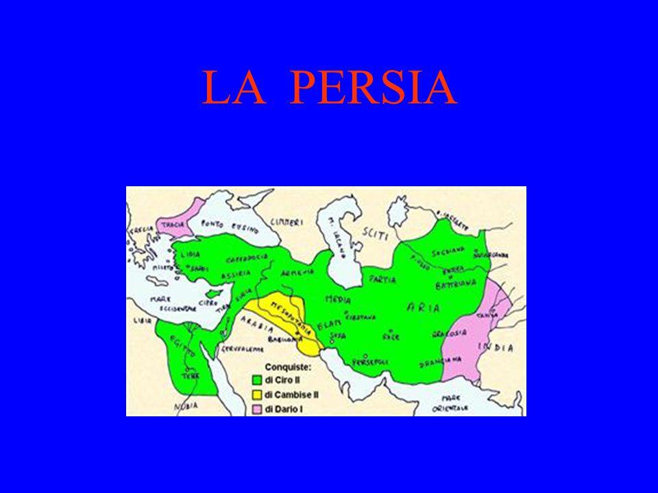 L'antico impero persiano coincide con certe aree dell'Asia contemporanea: 1.la regione anatolico-caucasica; 2.il Vicino Oriente; 3.il Medio Oriente
