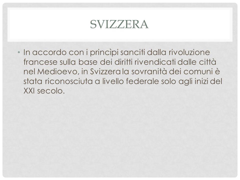 ITALIA In Italia i comuni sono composti da un sindaco, una giunta e un consiglio.