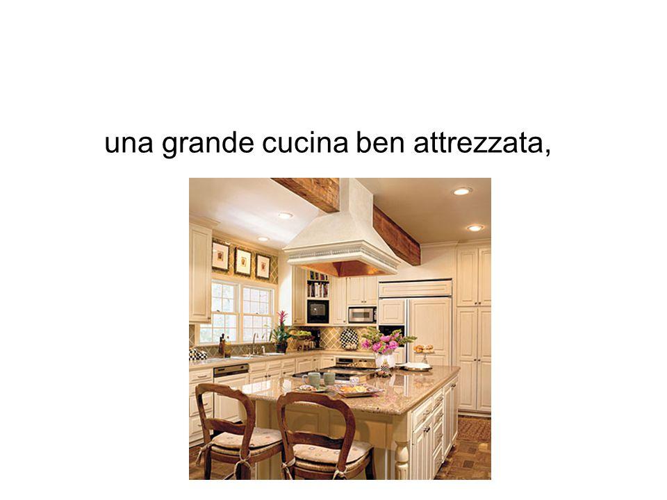 una grande cucina ben attrezzata,