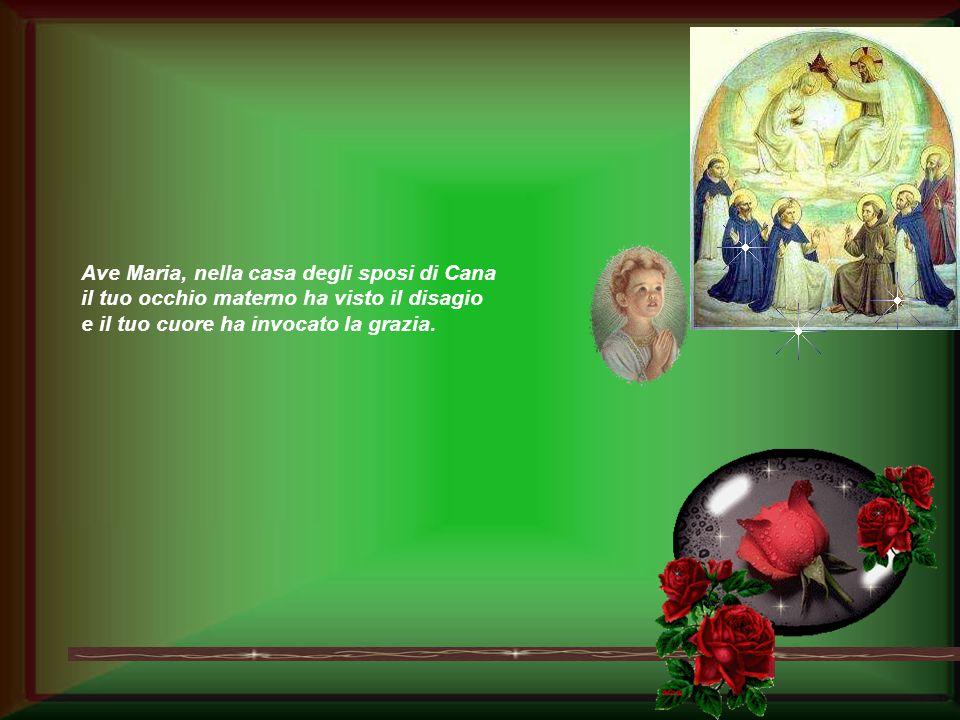 O Maria, guidaci lontano dalla terra triste dell'egoismo per camminare nella via dell'amore e del gesto gioioso della lavanda dei piedi. Ave Maria, ne