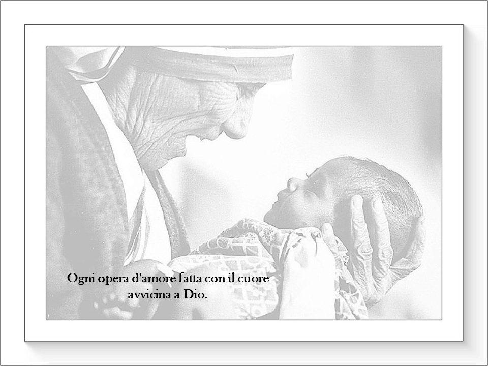 Ogni opera d amore fatta con il cuore avvicina a Dio.
