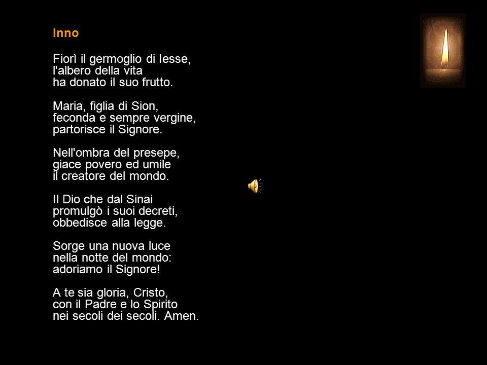 1 GENNAIO 2015 GIOVEDÌ - NELL'OTTAVA DI NATALE MARIA SS. MADRE DI DIO UFFICIO DELLE LETTURE INVITATORIO V. Signore, apri le mie labbra R. e la mia boc