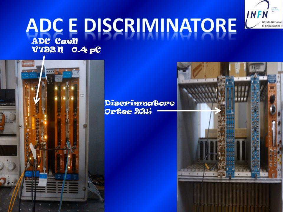 ADC CaeN V792 N 0.4 pC Discrimnatore Ortec 935