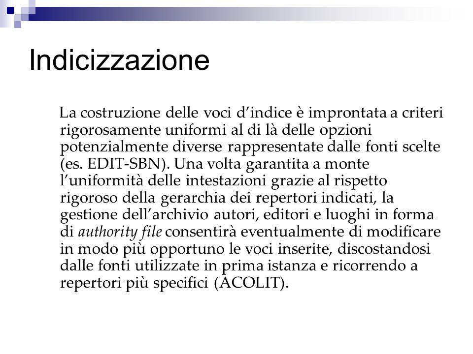 Prospettive Completare l'inserimento dei dati Revisione degli indici e completamento dell'authority file Edizione da parte della Biblioteca Vaticana degli indici, ordine per ordine (Vallombrosani).