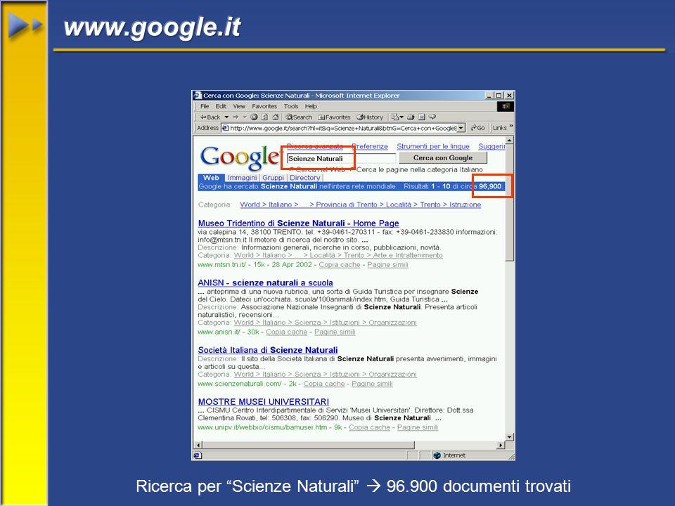Ricerca per Scienze Naturali  96.900 documenti trovati
