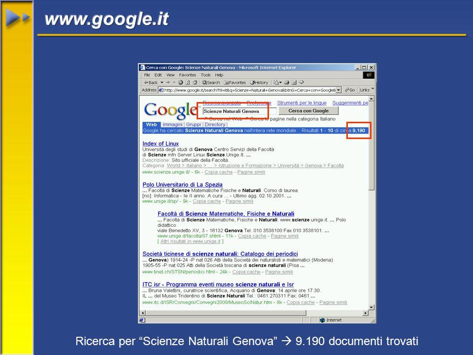 Ricerca per Scienze Naturali Genova  9.190 documenti trovati